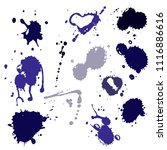 blood splat splash spot ink... | Shutterstock .eps vector #1116886616