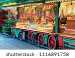 food at christmas market at... | Shutterstock . vector #1116891758