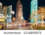 potsdamer platz square with... | Shutterstock . vector #1116893075