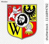 emblem of wroclaw. city of...   Shutterstock .eps vector #1116894782
