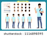 standing young boy. male... | Shutterstock .eps vector #1116898595