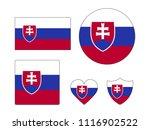 slovakia flags set | Shutterstock .eps vector #1116902522