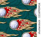 volleyball ball seamless...   Shutterstock .eps vector #1116903416