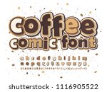 coffee brown and beige comic... | Shutterstock .eps vector #1116905522