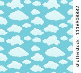 blue sky white clouds pattern... | Shutterstock .eps vector #1116908882