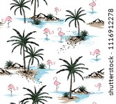summer beautiful seamless... | Shutterstock .eps vector #1116912278