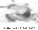 abstract halftone wave dotted... | Shutterstock .eps vector #1116912602
