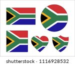 south africa flags set | Shutterstock .eps vector #1116928532