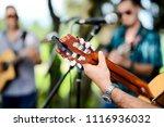 closeup detail hand playing... | Shutterstock . vector #1116936032
