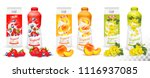 set of yogurt in bottles  and... | Shutterstock .eps vector #1116937085