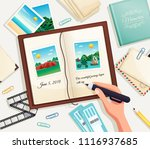 photo album cartoon vector... | Shutterstock .eps vector #1116937685