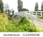 white bridge  bolsward ... | Shutterstock . vector #1116940538