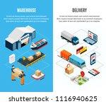 logistics isometric horizontal... | Shutterstock .eps vector #1116940625