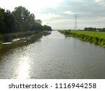 dutch ditch  friesland | Shutterstock . vector #1116944258