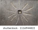 sun like design on ancient... | Shutterstock . vector #1116944822