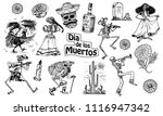 day of the dead. mexican... | Shutterstock .eps vector #1116947342