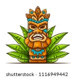 tiki traditional hawaiian... | Shutterstock .eps vector #1116949442