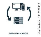 server data exchange icon. line ...