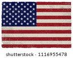 grunge american flag.vector... | Shutterstock .eps vector #1116955478