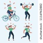 vector cartoon illustration of... | Shutterstock .eps vector #1116962882
