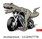 tyrannosaurus rex riding a... | Shutterstock .eps vector #1116967778