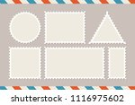 postage stamp template. set of... | Shutterstock .eps vector #1116975602