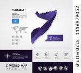 somalia map vector illustration | Shutterstock .eps vector #1116979052