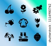 vector icon set about gardening ... | Shutterstock .eps vector #1116980762