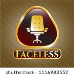 shiny badge with office chair... | Shutterstock .eps vector #1116983552