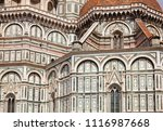 ornate neo gothic facade of the ... | Shutterstock . vector #1116987668