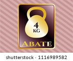 golden badge with 4kg... | Shutterstock .eps vector #1116989582