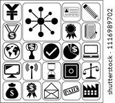set of 22 business icons ... | Shutterstock .eps vector #1116989702