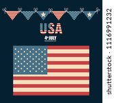 usa independence day with flag | Shutterstock .eps vector #1116991232