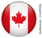 vector   canada flag glossy... | Shutterstock .eps vector #111699206