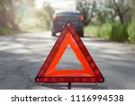 red triangle emergency stop... | Shutterstock . vector #1116994538