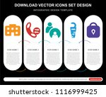 5 vector icons such as city...   Shutterstock .eps vector #1116999425