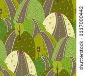 road through the green hills...   Shutterstock .eps vector #1117000442