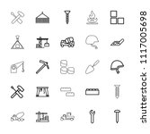 build icon. collection of 25... | Shutterstock .eps vector #1117005698