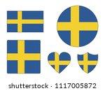 sweden flags set | Shutterstock .eps vector #1117005872