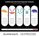 5 vector icons such as sushi... | Shutterstock .eps vector #1117011122