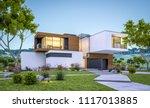 3d rendering of modern cozy... | Shutterstock . vector #1117013885