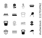 botany icon. collection of 16... | Shutterstock .eps vector #1117014962