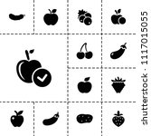 ripe icon. collection of 13... | Shutterstock .eps vector #1117015055