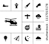 sky icon. collection of 13 sky... | Shutterstock .eps vector #1117015178