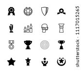 award icon. collection of 16... | Shutterstock .eps vector #1117015265
