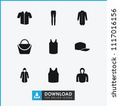casual icon. collection of 9... | Shutterstock .eps vector #1117016156