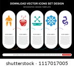 5 vector icons such as sumo... | Shutterstock .eps vector #1117017005
