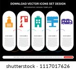 5 vector icons such as cemetery ...   Shutterstock .eps vector #1117017626