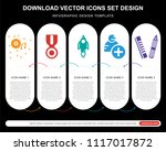 5 vector icons such as compact...