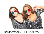 two attractive smiling girl in... | Shutterstock . vector #111701792